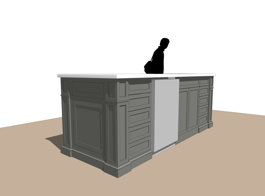 Interior Kitchen Island Design- Free SketchUp Model