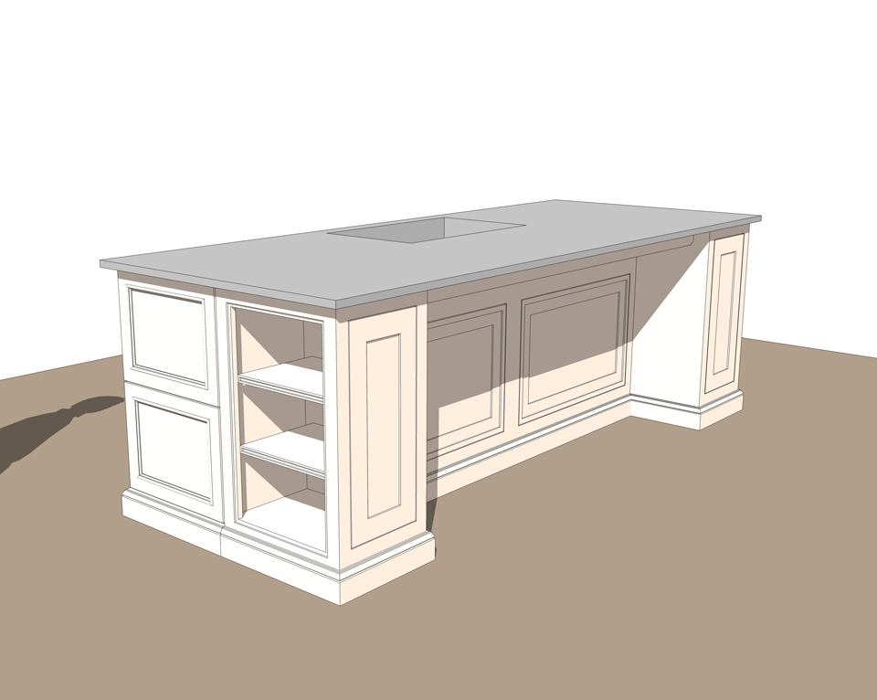 Free Interior Kitchen Island  SketchUp Model_#2