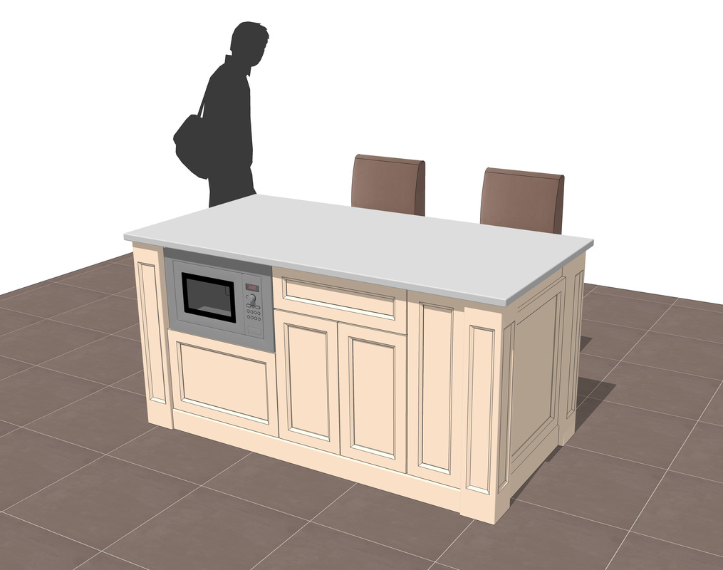 Free 3d Sketchup Kitchen Island Models Ag Cad Designs
