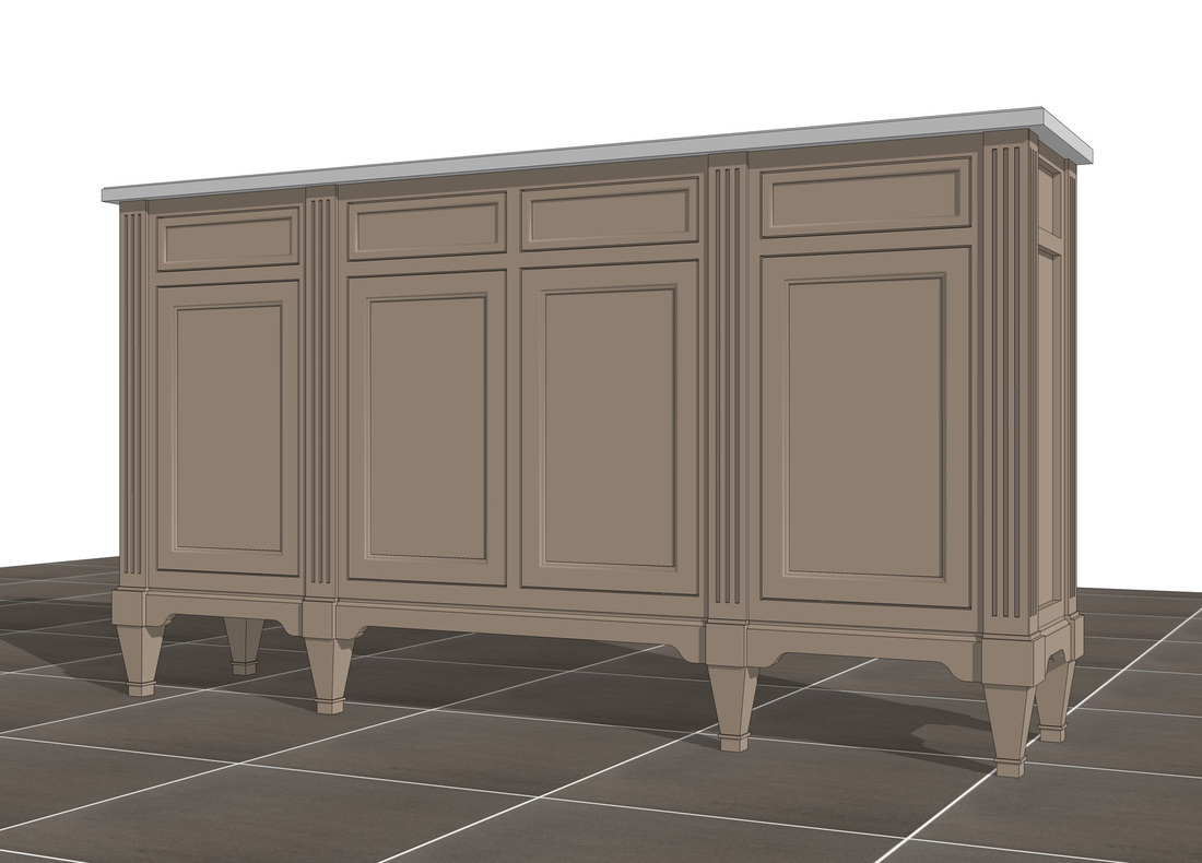 3d sketchup furniture model