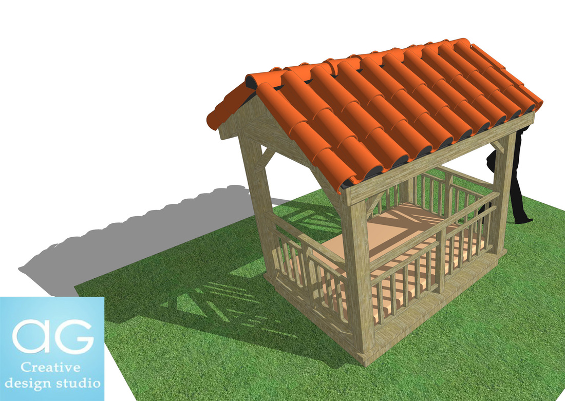 Outdoor Canopy Bed_Concept design_free SketchUp model_landscape design