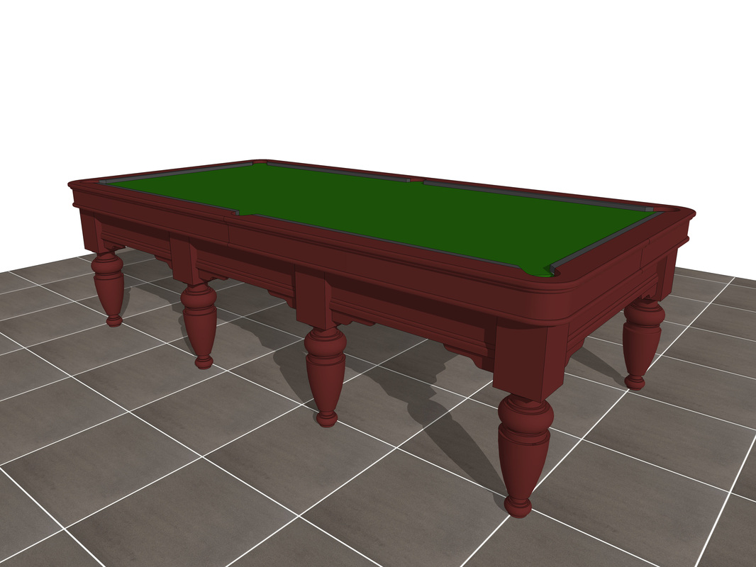 Custom_free 3D model_Pool Table design_download_#1