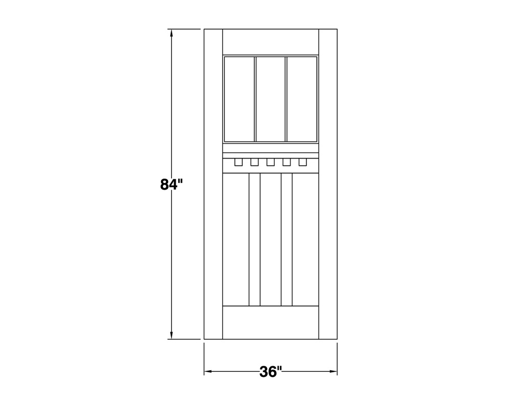 free CAD DWG farm door block