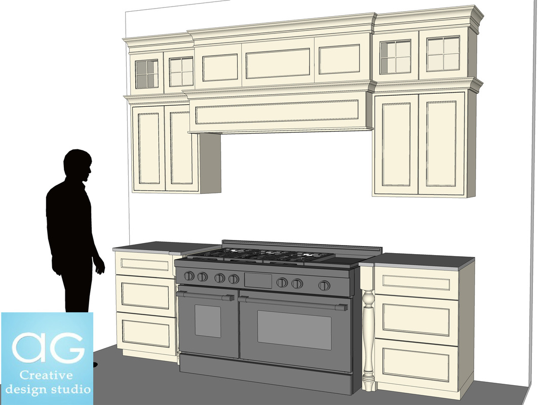 Free Interior Kitchen wall counters- SketchUp Model_#1