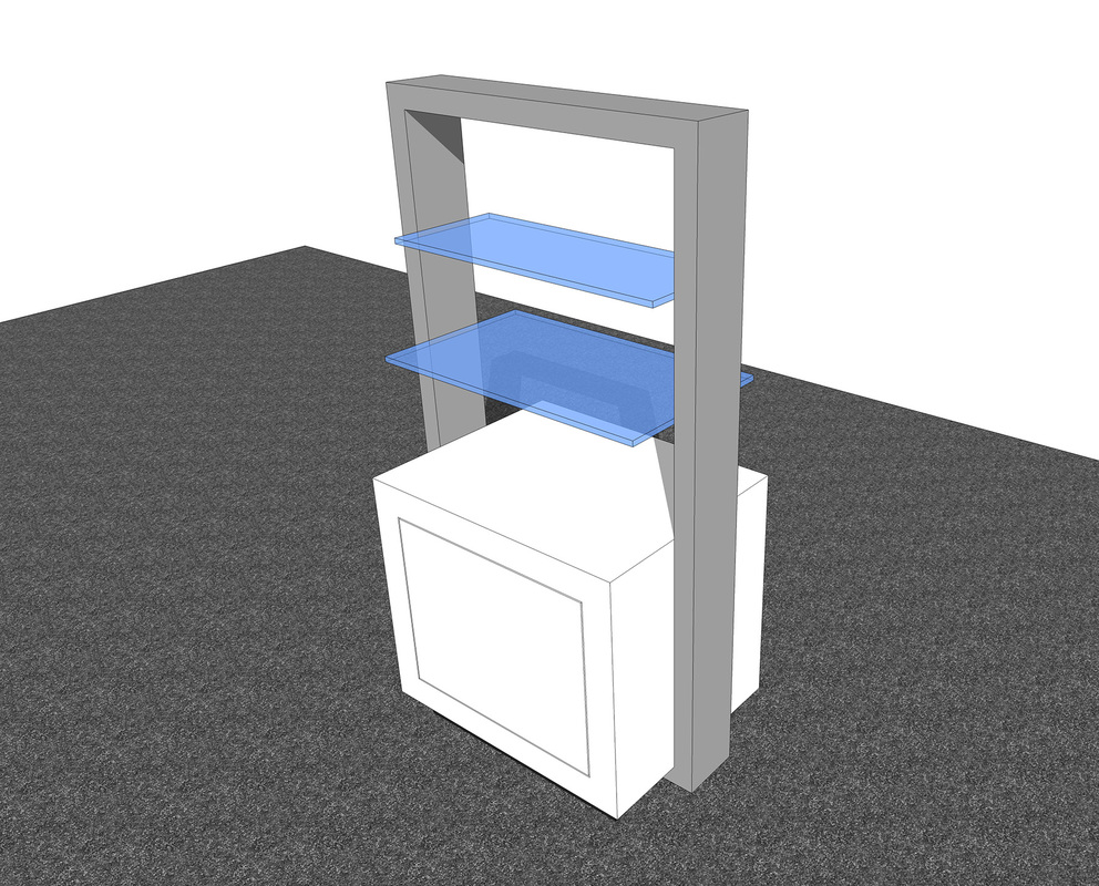Exhibit & Retail workstation concept Free 3D SketchUp Model