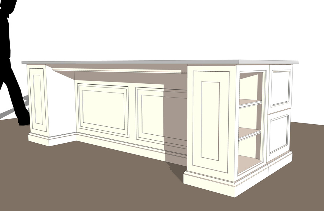 Free Interior Kitchen Island- SketchUp Model_#4