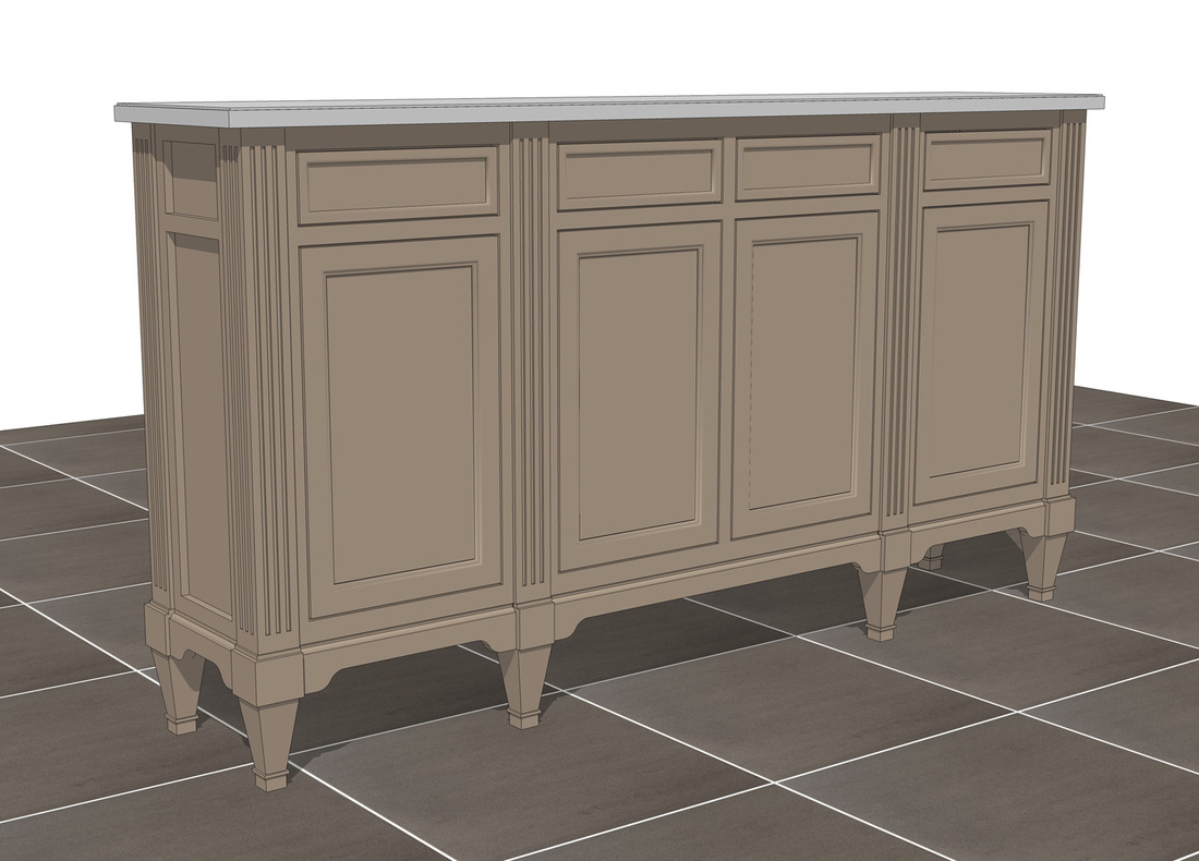 3d sketchup furniture model cabinet