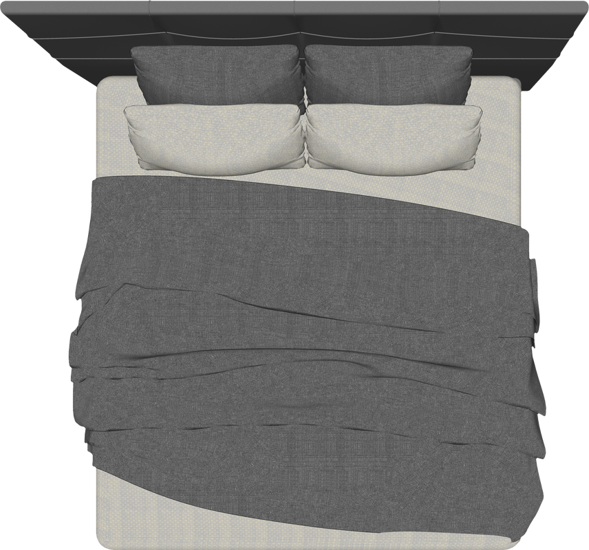 California King Bed Interior Design Furniture Top View Architecture Cutout Freebies