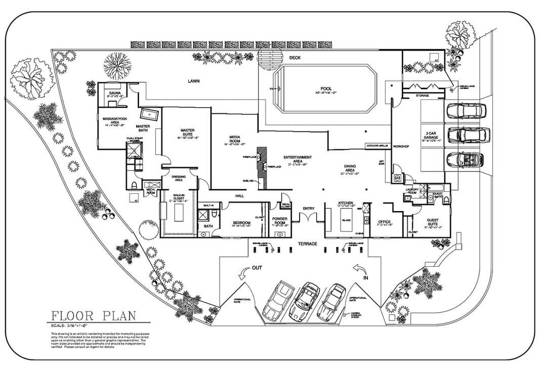 real estate 2D floor plan drawing services