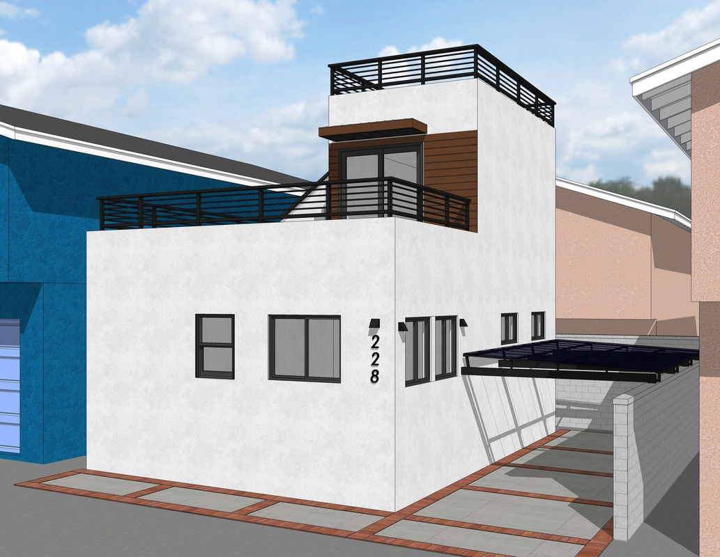 sketchup exterior rendering services modeling california usa architectural