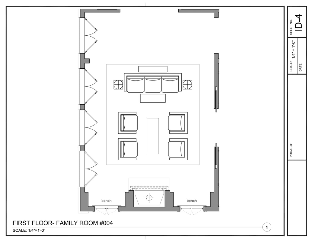 Interior Design Furniture Layout Drawing Service california