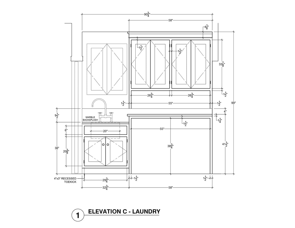 Laundry Room CAD drafting elevation interior design