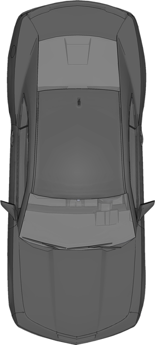 free top view PNG car camero