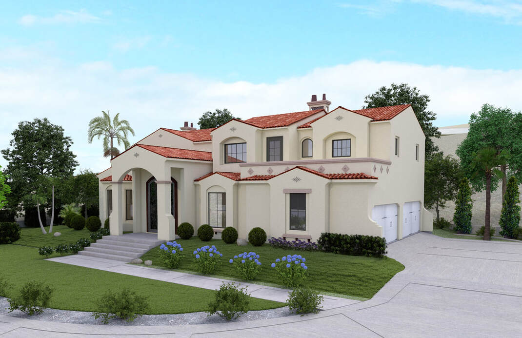 Exterior Rendering los Angeles california architectural rendering services studio