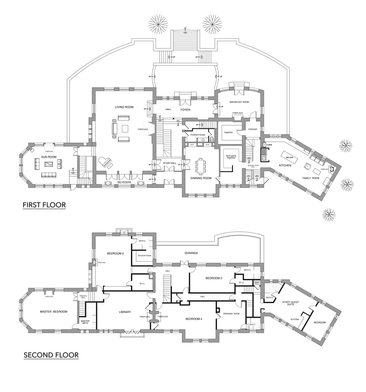 Luxury Real Estate Floor Plan layout service on-site measuring_California