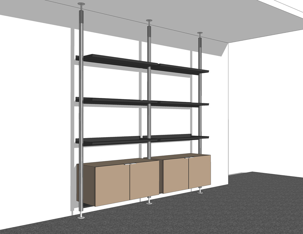 Shelf System Concept Free 3D Model Interior Design
