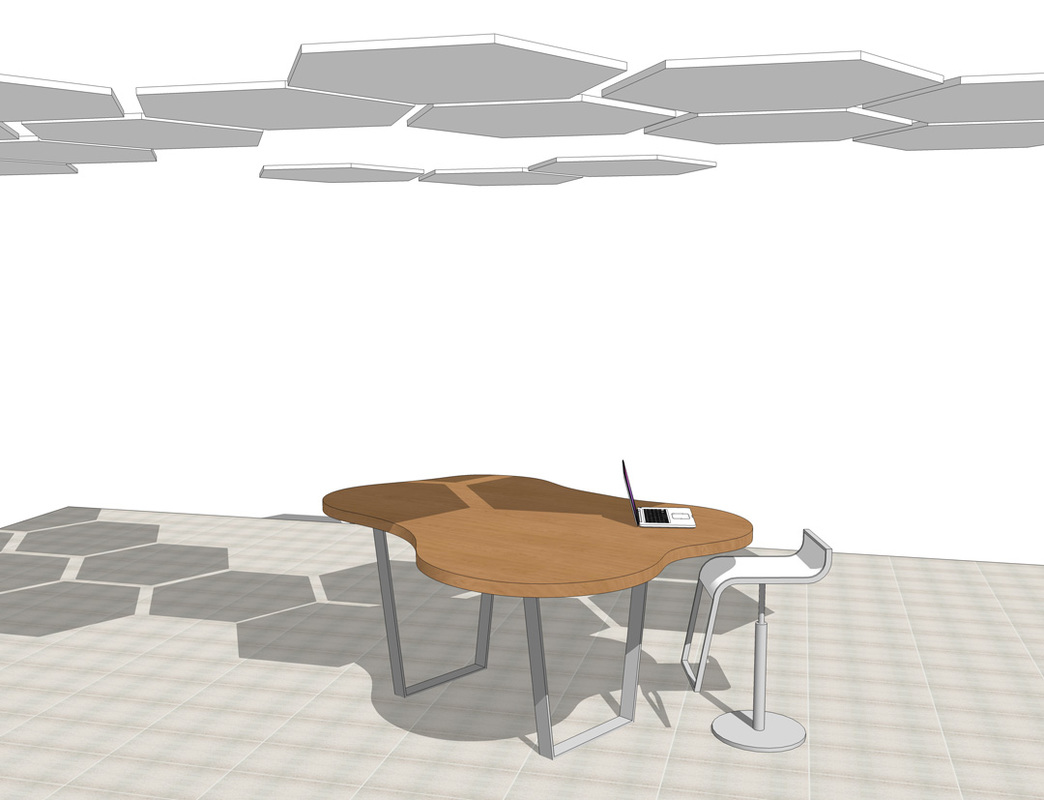 Interior furniture SketchUp modeling table