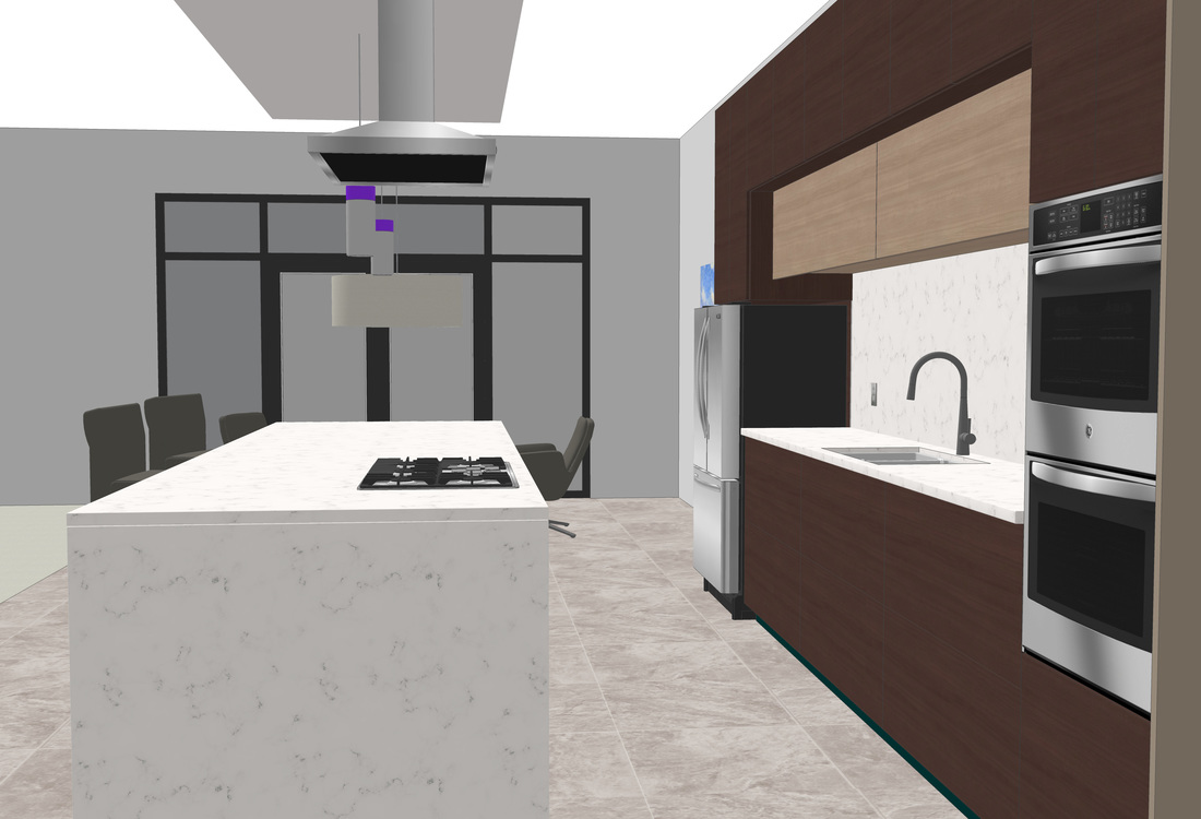 Interior Modern Kitchen Free 3d Model Usa Architectural Rendering