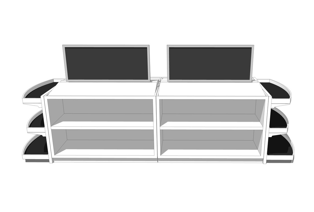 Free Store Sales Display- Rack_SketchUp Model_#1