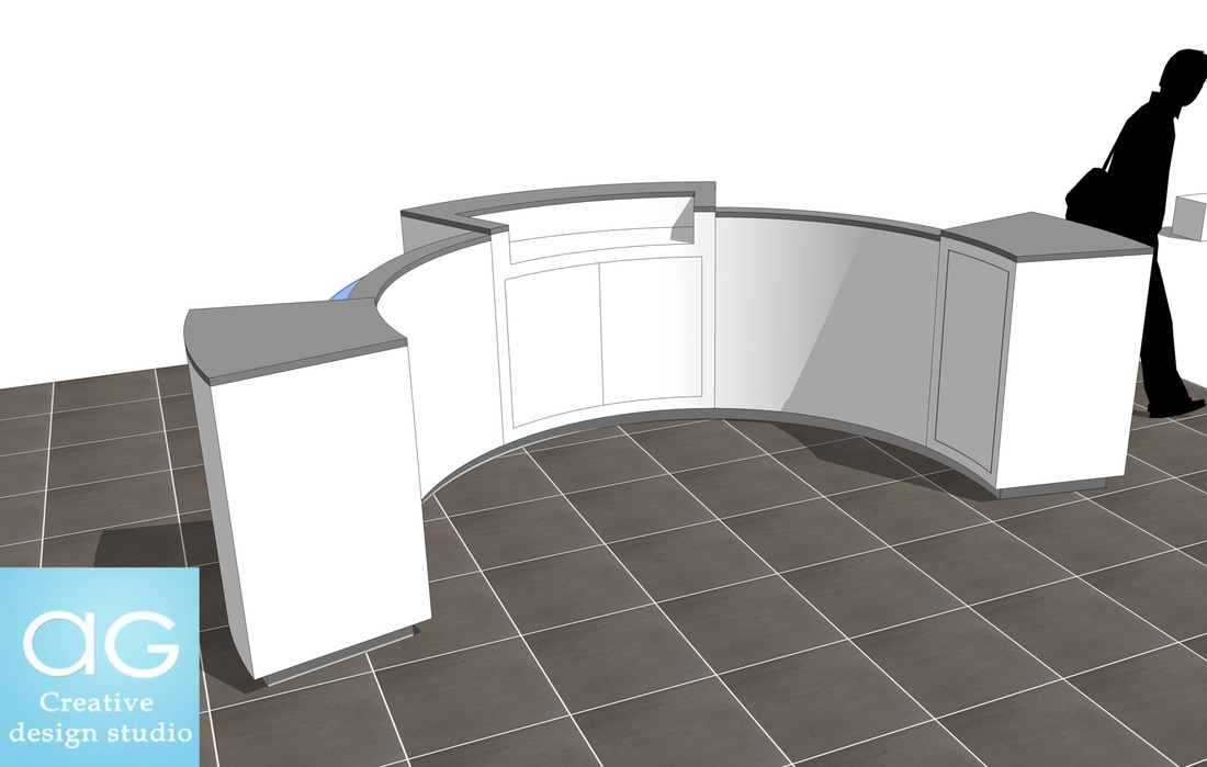 free sketchup convenience store sales counter design_#2