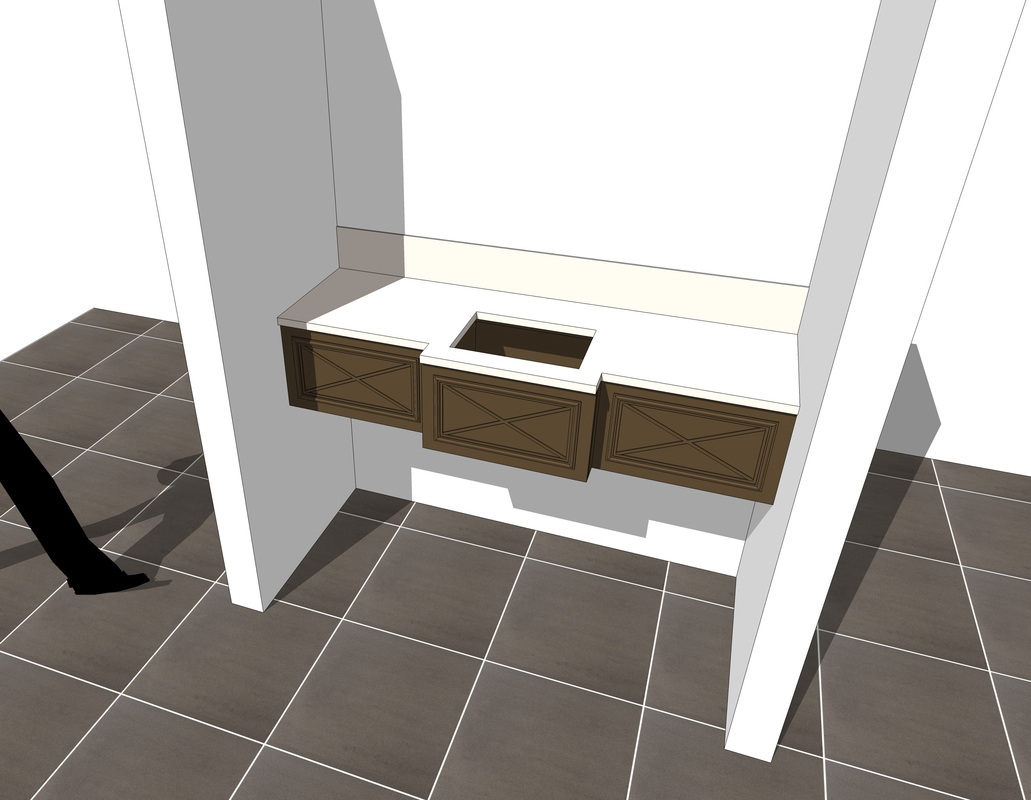 Free 3D SketchUp Bath Vanity Counter Models