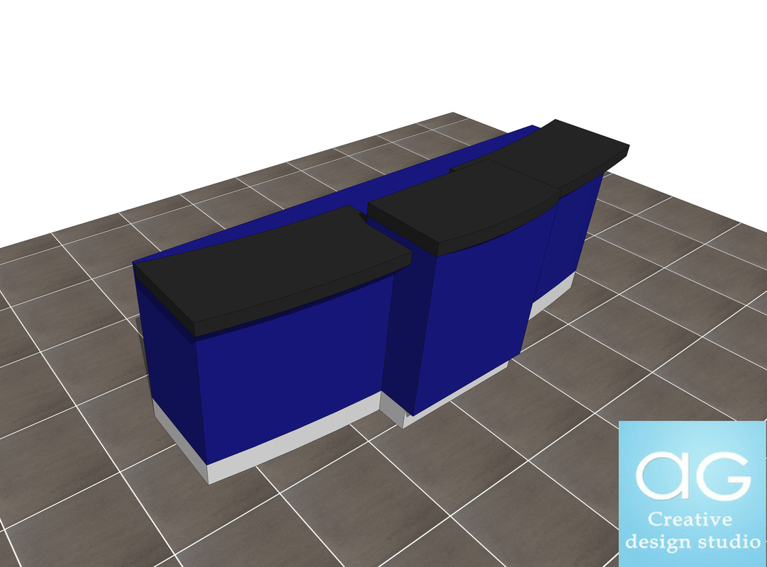 Sales Counter Retail design concept_sketchup desk 3d model_#2
