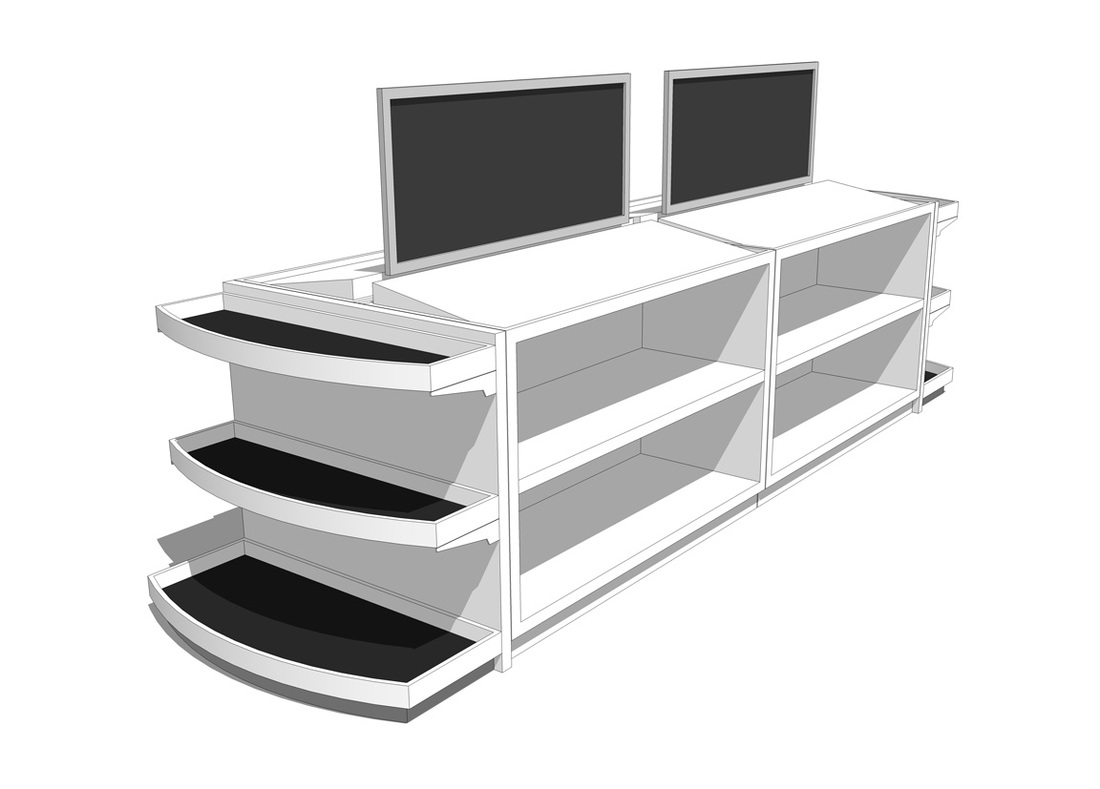 Free Store Sales Display- Rack_SketchUp Model_#2