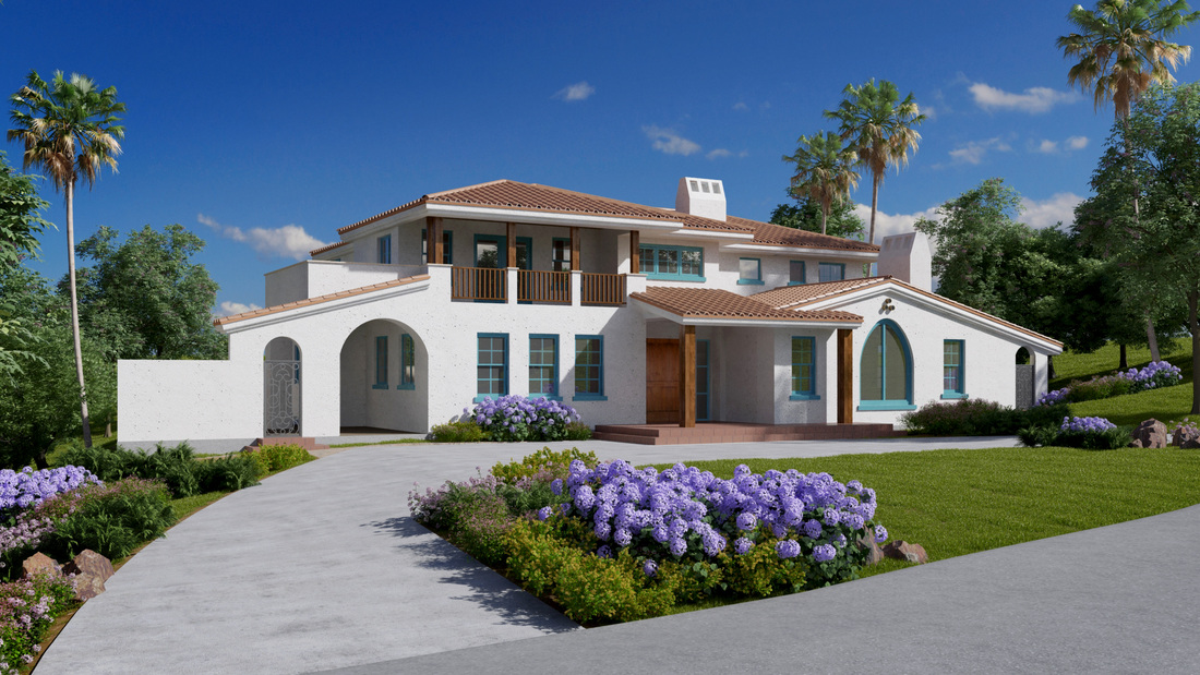Photorealistic Exterior Rendering- Architectural Online high quality services