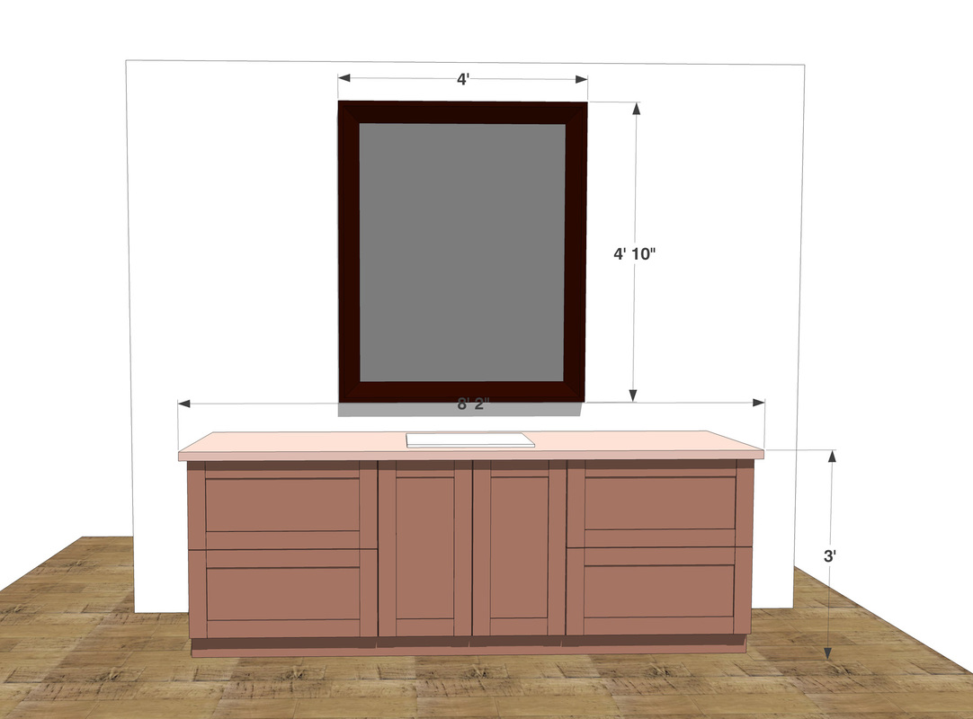 Bath Sink Fixture Counter Free 3D SketchUp Model