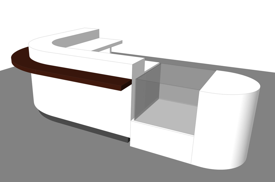 Free Retail Sales Counter_SketchUp Model_#2