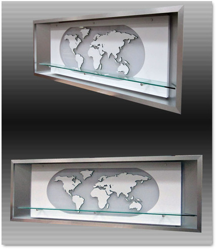 custom built recessed product display