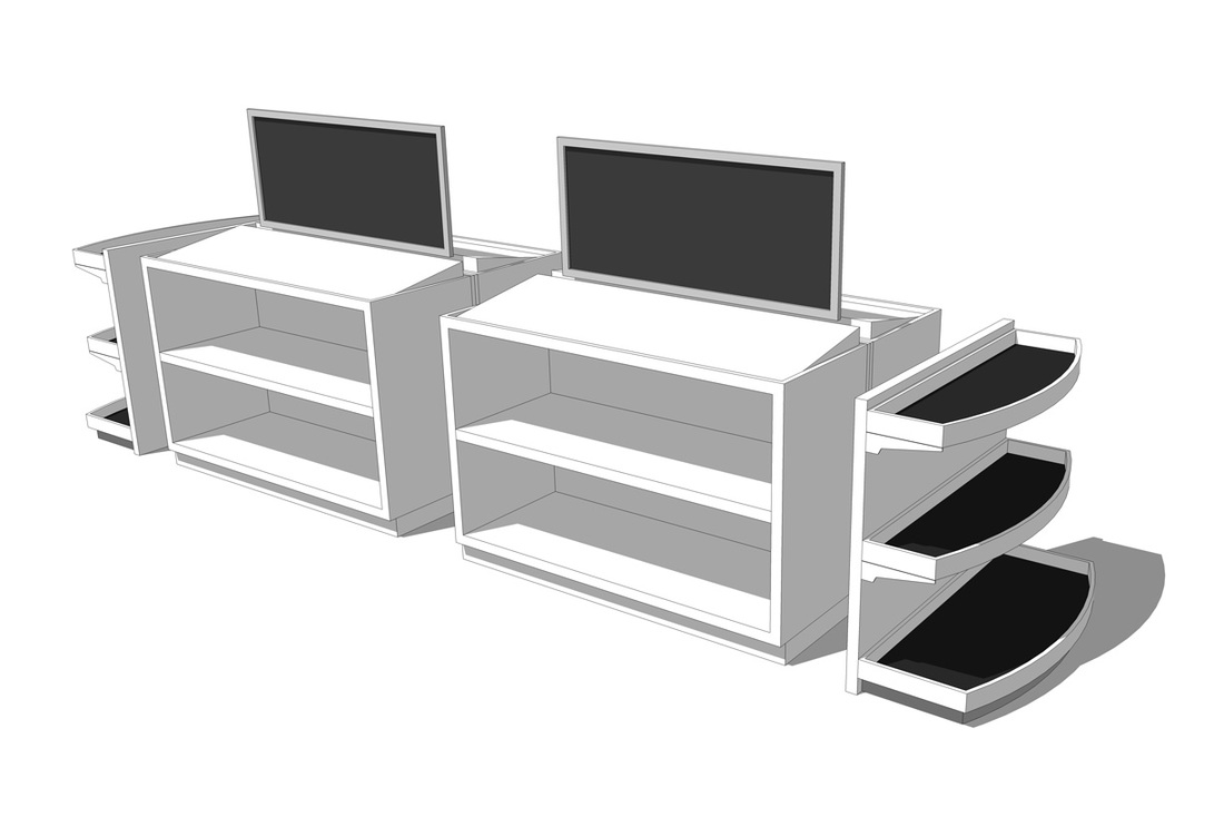 Free Store Sales Display- Rack_SketchUp Model_#3