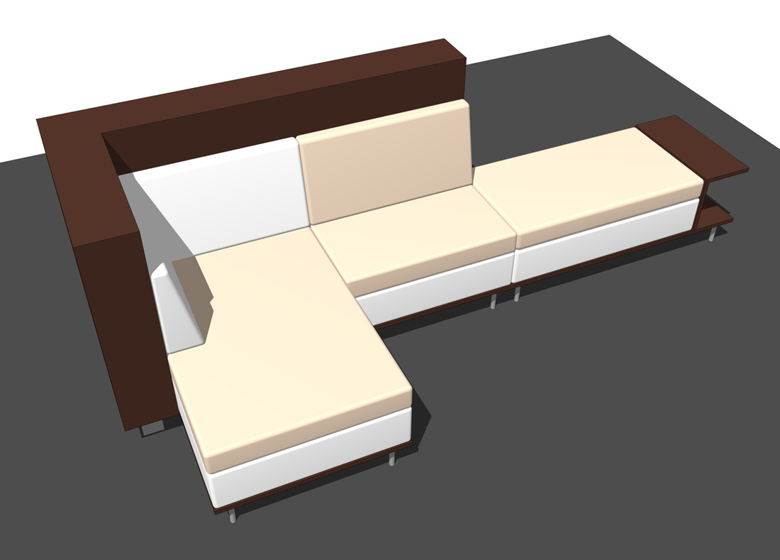 Interior furniture SketchUp modeling sofa