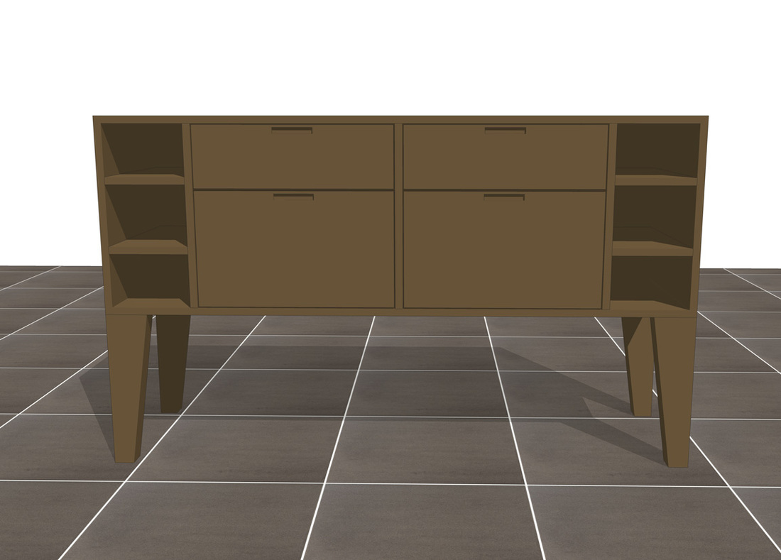 Interior furniture SketchUp modeling