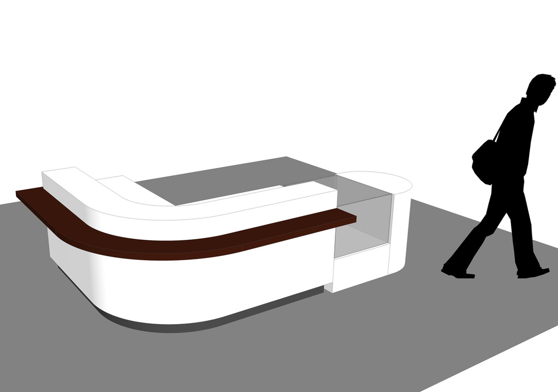 Free Retail Sales Counter_SketchUp Model