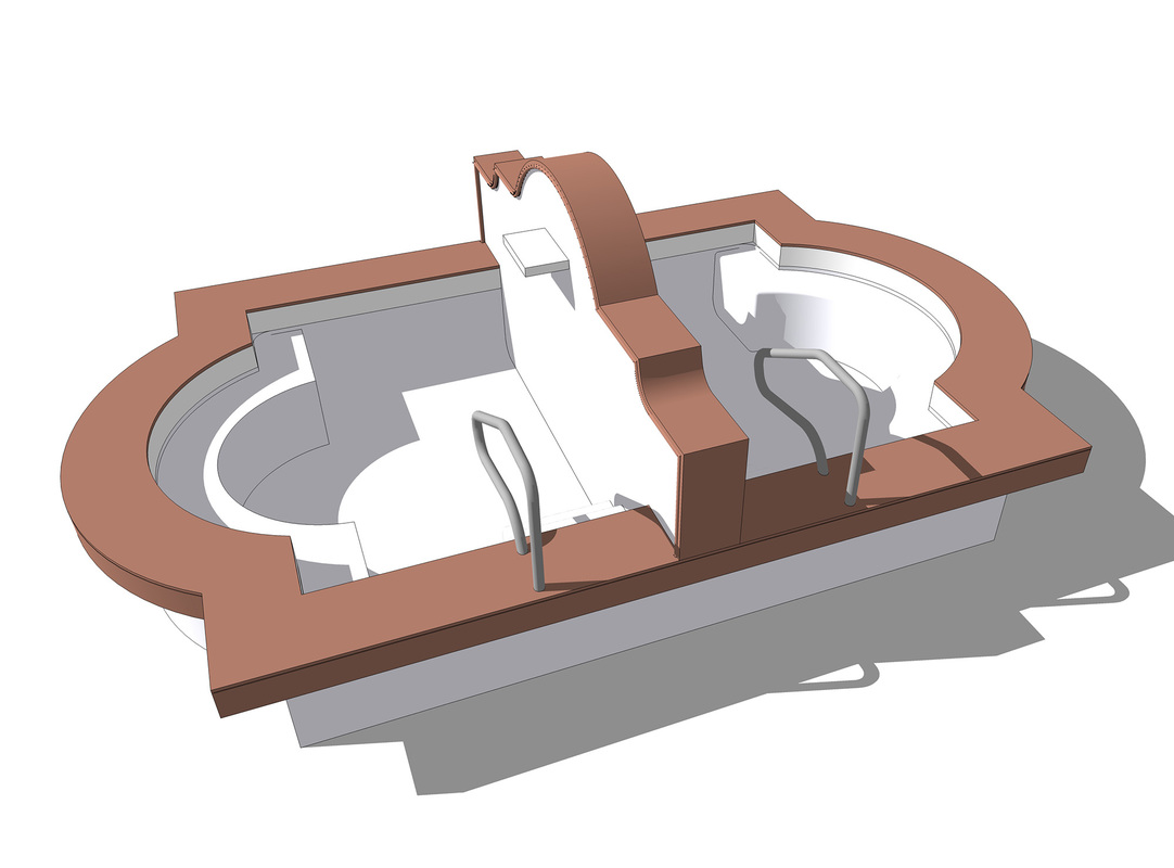 Pool design concept Free 3D SketchUp Model