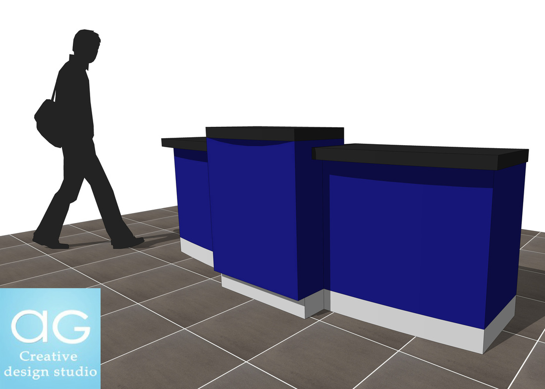 Sales Counter Retail design concept_sketchup desk 3d model_#1