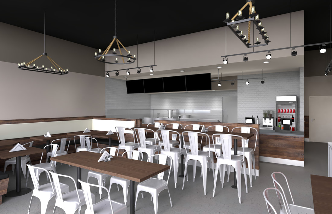best photorealistic architectural rendering services visualization cost 3D virtual animation walk-through company studio realistic Restaurant Interior rendering design