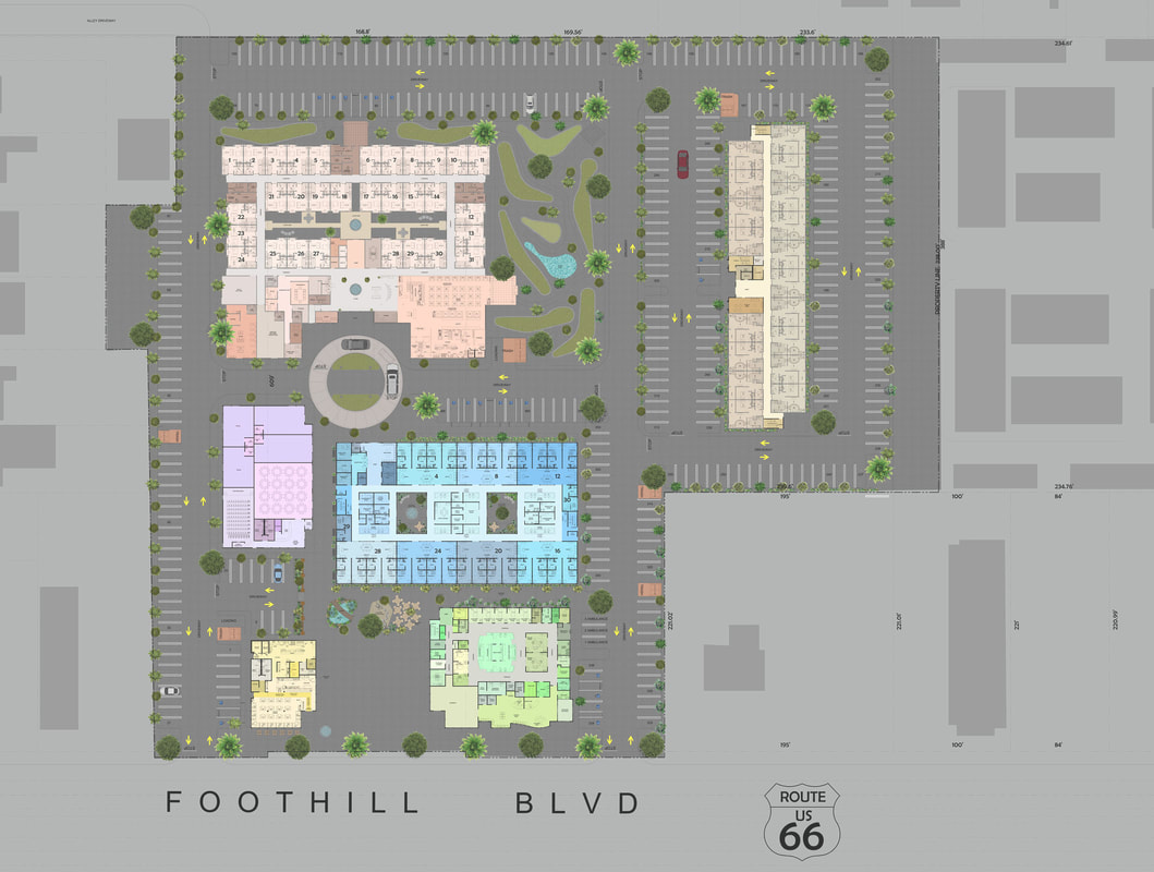 Color 2D Site Plan_Services_Real Estate_Commercial Space Planning services company
