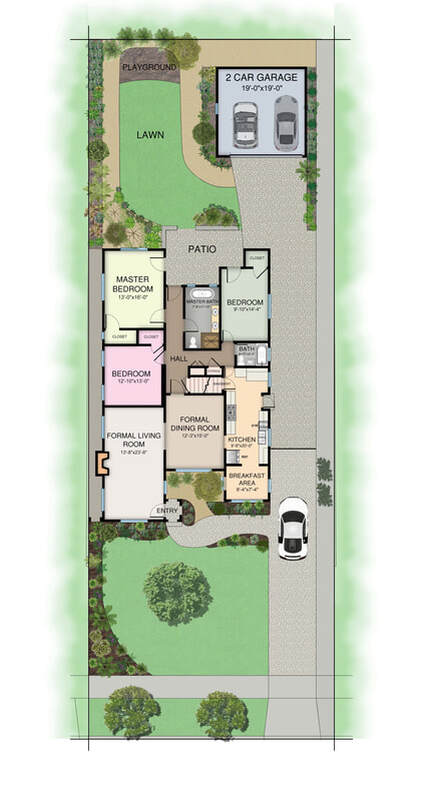 Color 2D Floor Plan_Serives_Real Estate_Vacation Rental_Space Planning_Residence Floor Plan