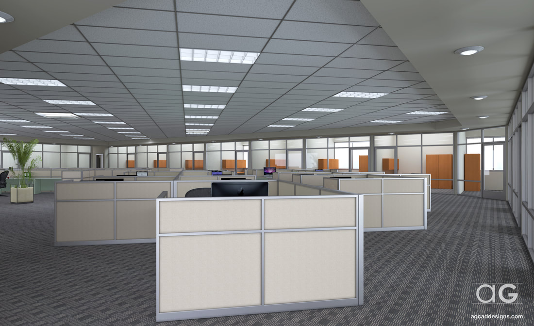 high quality photo-realistic Office Interior design 3D architecture rendering service