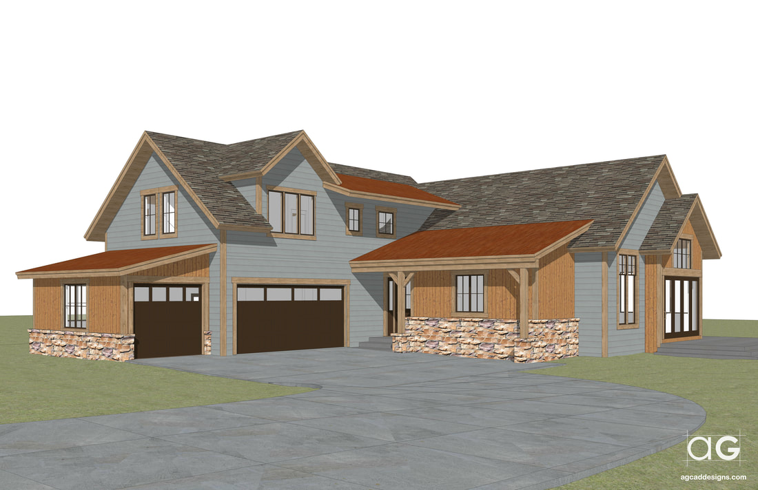 mountain home sketchup modeling architectural visualization concept 3d rendering service Nebraska