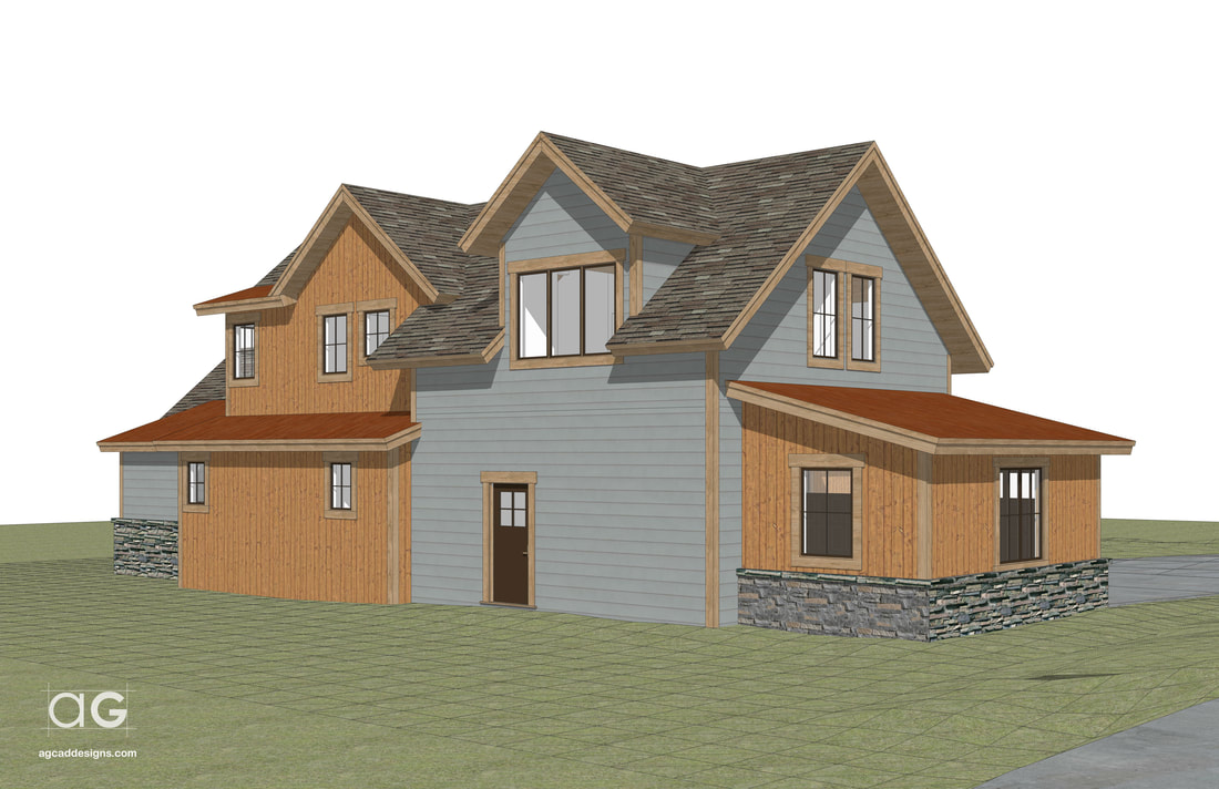 mountain living real estate architecture 3d rendering service graphic design illustration visuals Wisconsin USA