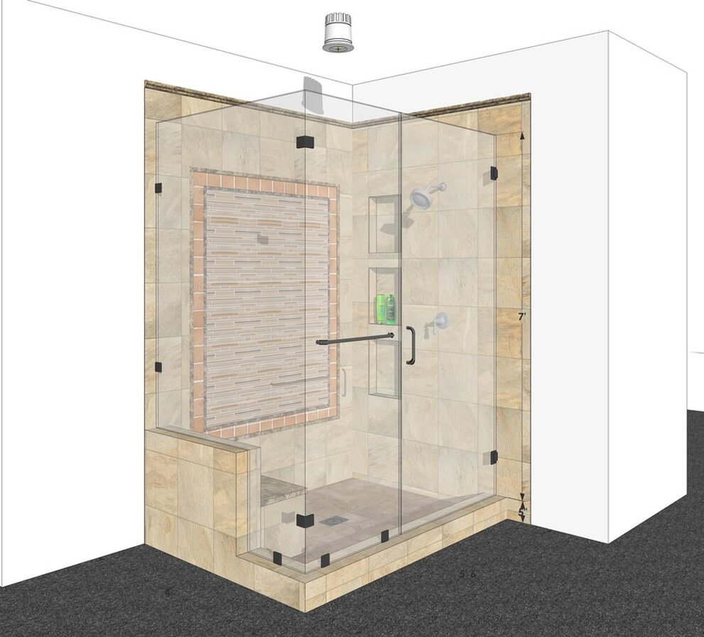 sketchup interior bathroom rendering services modeling california usa architectural