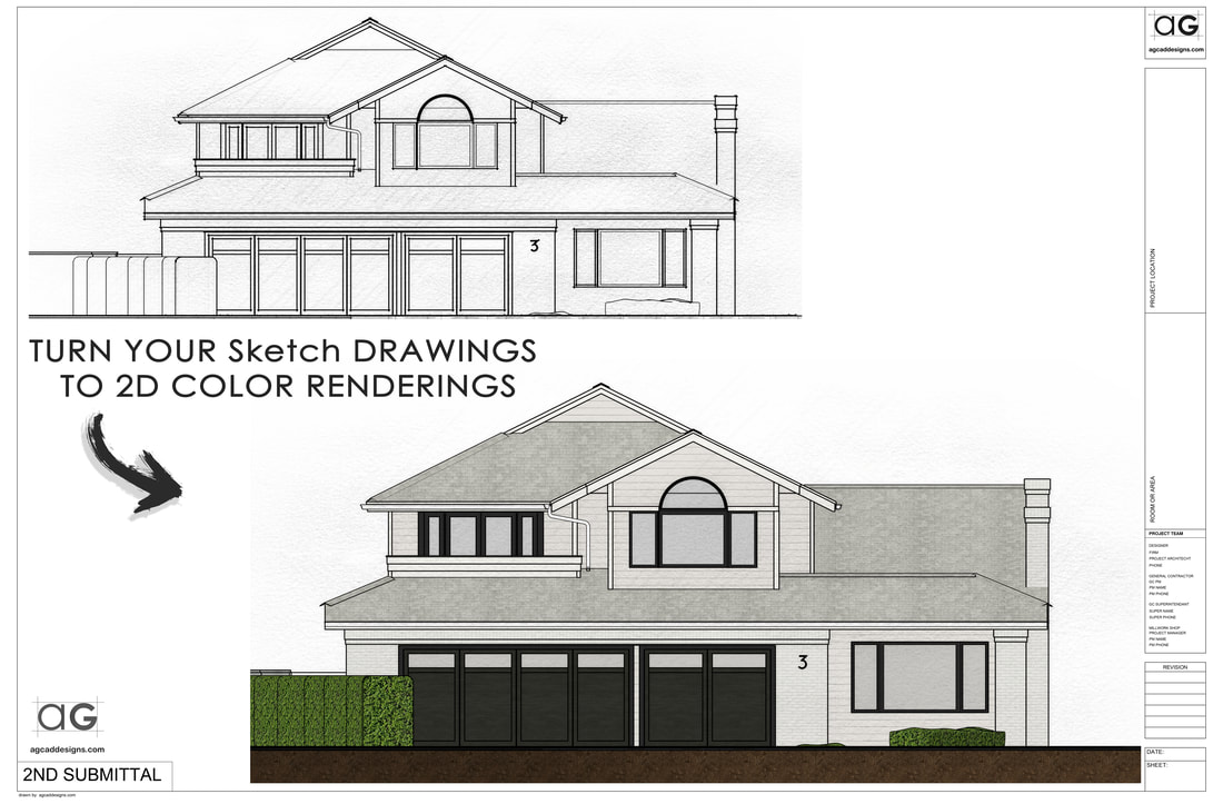 Real estate Exterior house 2D photoshop color rendering service