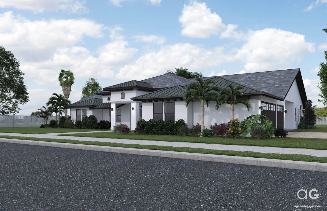 Realistic 3D Architectural Exterior Residential Rendering Studio Services California_San Diego_Sacramento_USA