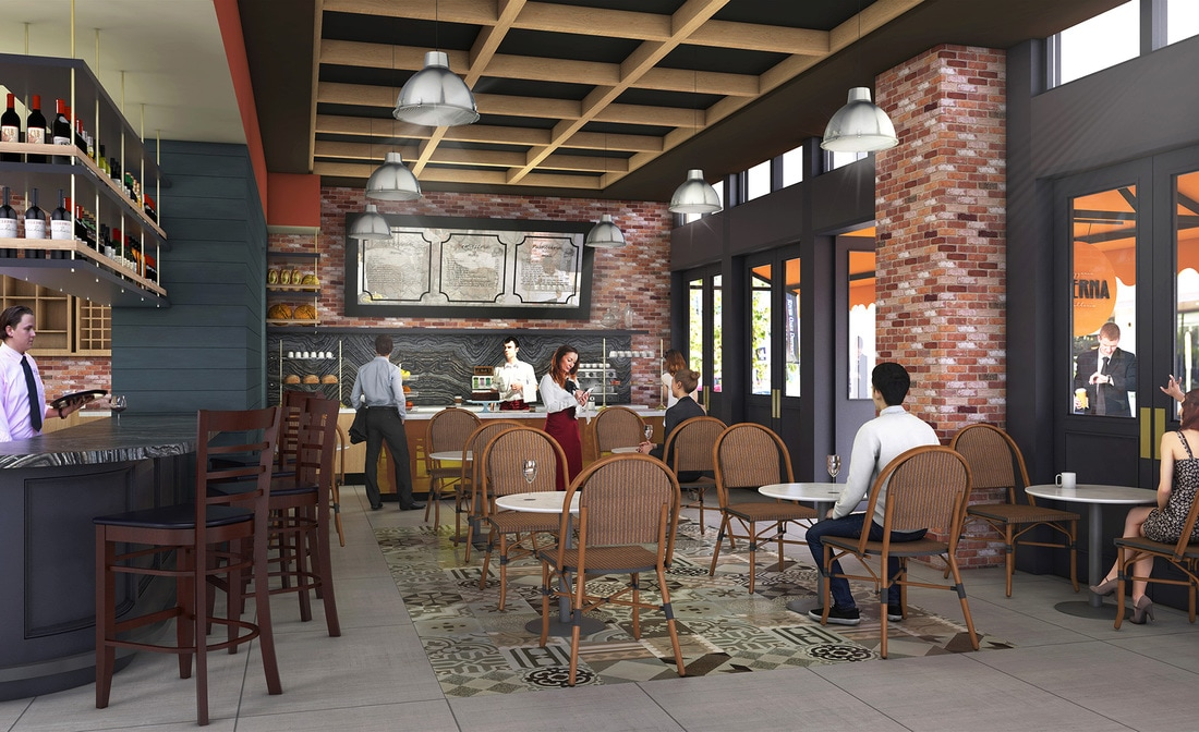 restaurant commercial interior design 3d architectural rendering services california texas arizona usa