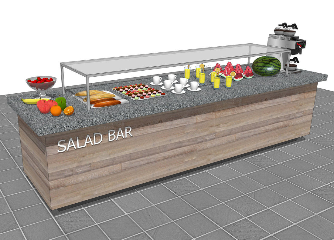 custom restaurant design service 3D concepts