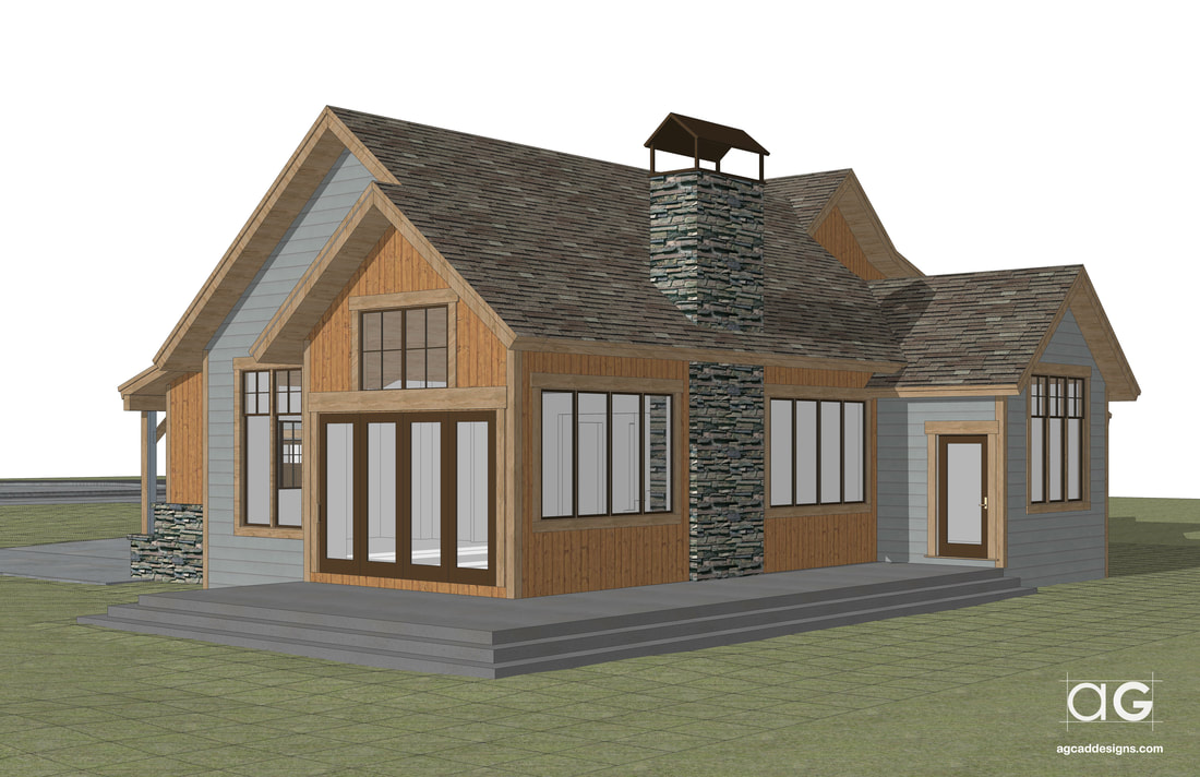 mountain living real estate architecture professional rendering service graphic design visualization 3d illustration Wisconsin USA